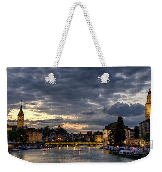 Dusk At Zurich Weekender Tote Bag
