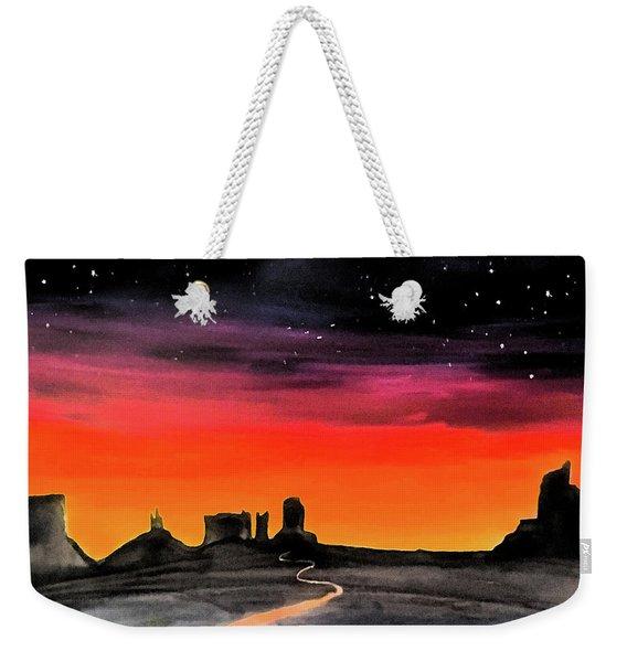 dusk in Monument Valley Weekender Tote Bag