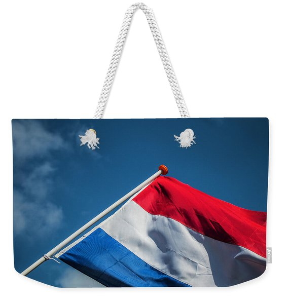Weekender Tote Bag featuring the photograph Dutch Flag by Anjo Ten Kate