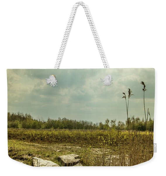 Weekender Tote Bag featuring the photograph Dutch Landscape. by Anjo Ten Kate