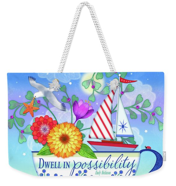 Dwell In Possibility Weekender Tote Bag