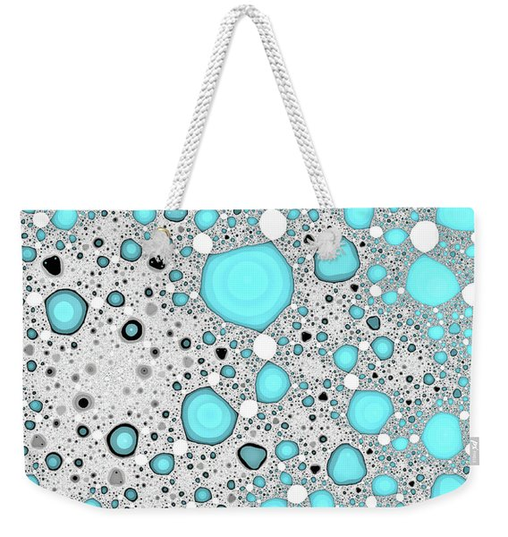 Dynamic Moonscape Blue Abstract Art Weekender Tote Bag