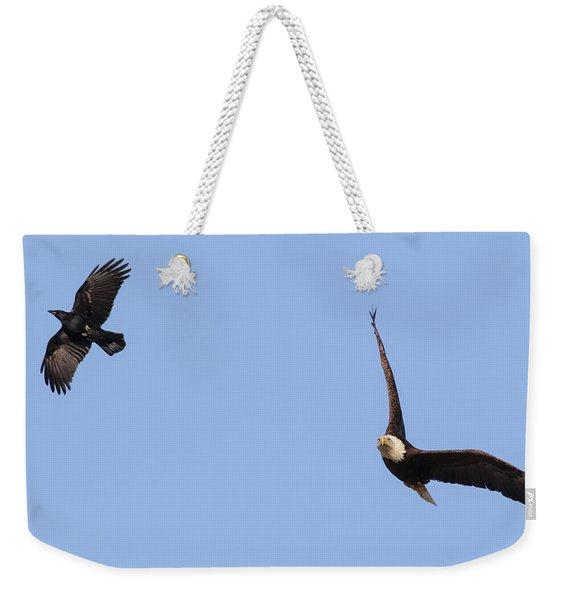 Eagle And Crow  Weekender Tote Bag