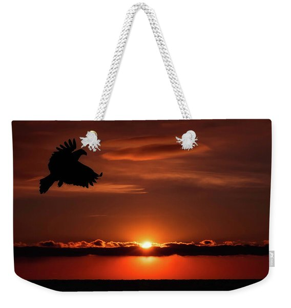 Eagle In A Red Sky Weekender Tote Bag