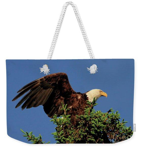 Eagle In Treetop Weekender Tote Bag