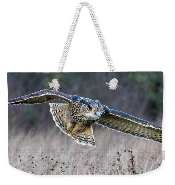 Eagle Owl Gliding Weekender Tote Bag