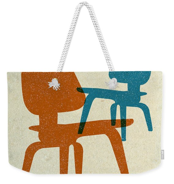 Eames Molded Plywood Chairs I Weekender Tote Bag