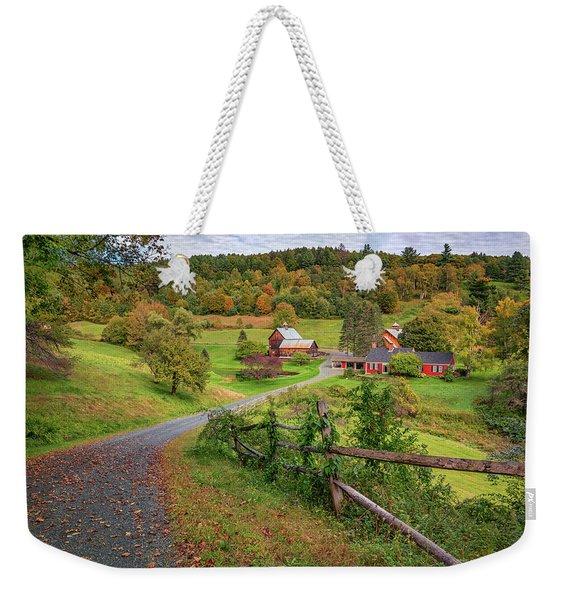 Early Fall At Sleepy Hollow Farm Weekender Tote Bag