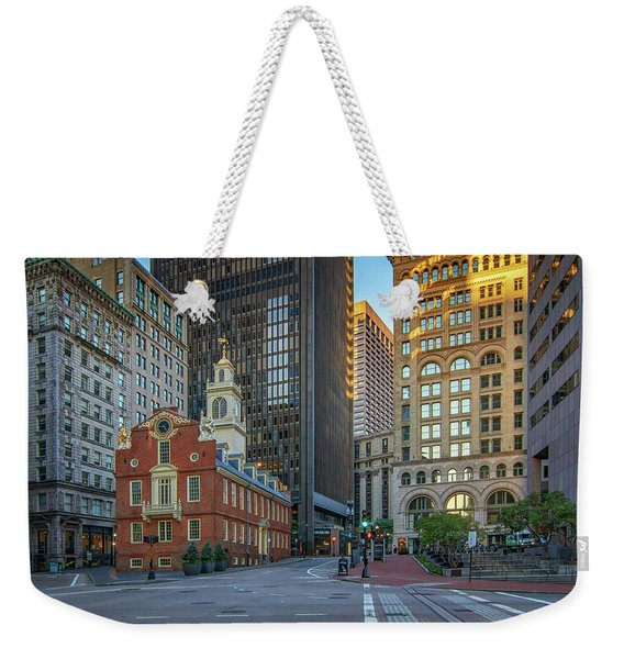 Early Morning At The Old Statehouse Weekender Tote Bag