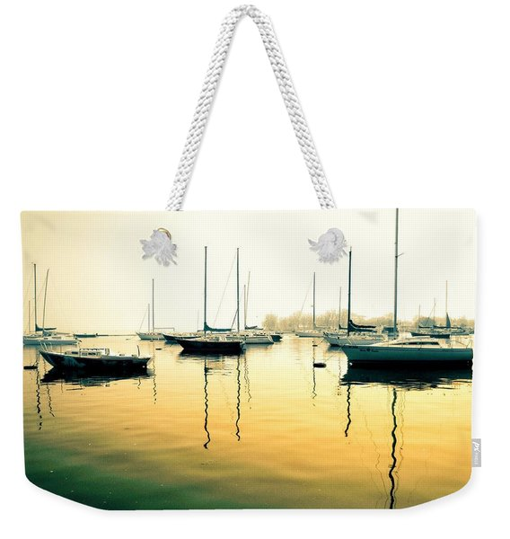 Early Mornings At The Harbour Weekender Tote Bag