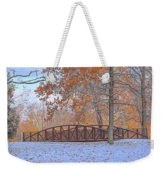 Early Snow Weekender Tote Bag
