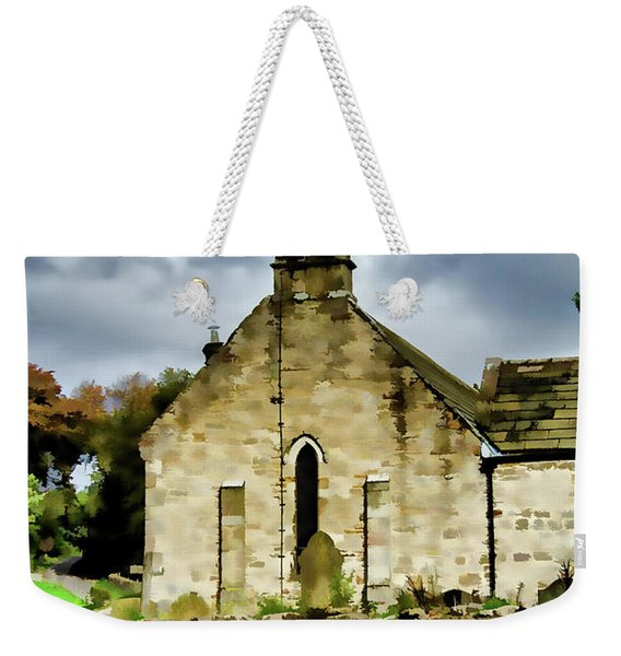 Easby Church Digital Painting Weekender Tote Bag