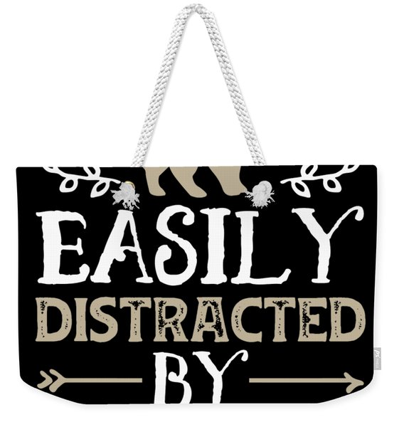 Easily Distracted By Scottish Fold Funny Cat Lover Gifts Shirt Weekender Tote Bag