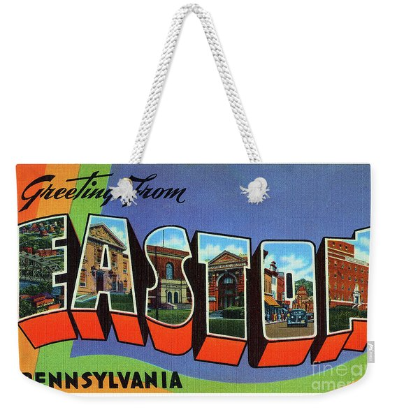 Easton Greetings Weekender Tote Bag