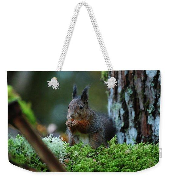 Eating Squirrel Weekender Tote Bag