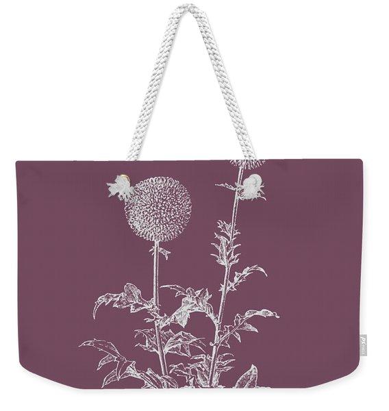 Echinopos Purple Flower Weekender Tote Bag