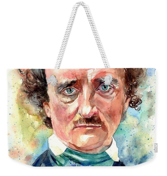Edgar Allan Poe Portrait Weekender Tote Bag