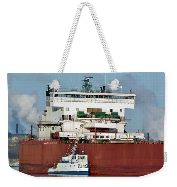 Edgar B Speer Freighter Weekender Tote Bag