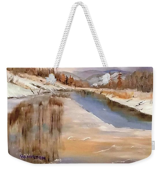 Edge Of Winter Weekender Tote Bag
