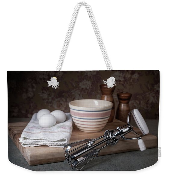 Eggbeater And Eggs Still Life Weekender Tote Bag