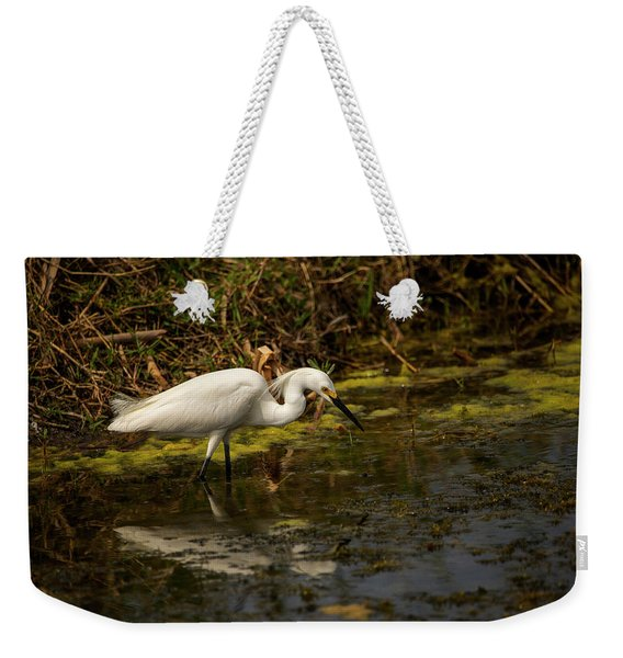 Egret Hunts Weekender Tote Bag