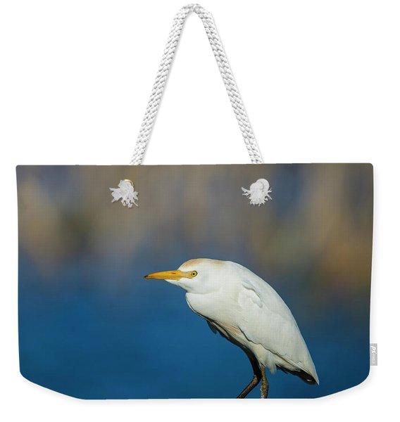 Egret On A Stick Weekender Tote Bag