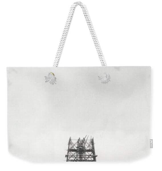 Eiffel Tower Being Built, Paris, 14th October And 14th November 1888 Weekender Tote Bag