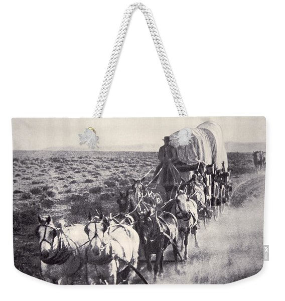 Eight Horse Heavy Freight Wagon Weekender Tote Bag