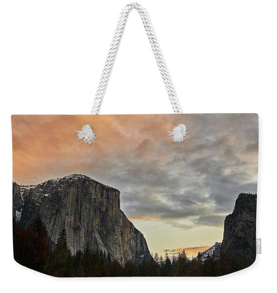 El Capitan At Sunset Weekender Tote Bag