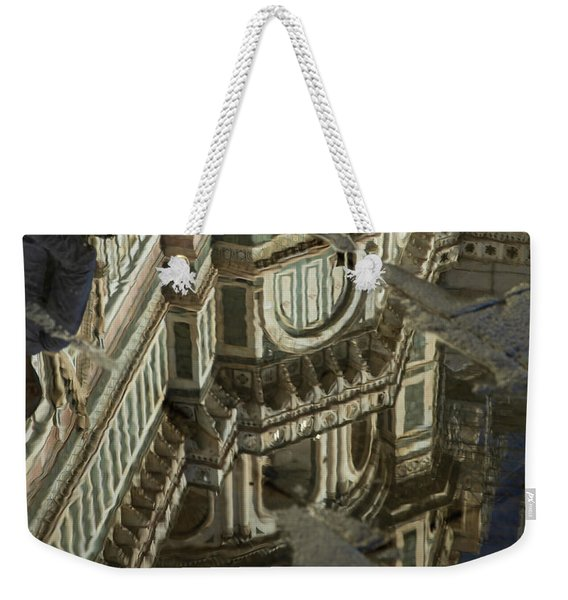 el Duomo The Florence Italy Cathedral Reflections Weekender Tote Bag