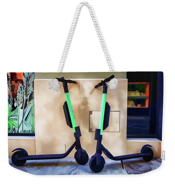 Electrical Twins Weekender Tote Bag