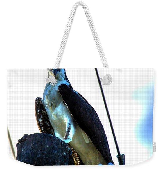 Electrifying Pose  Weekender Tote Bag