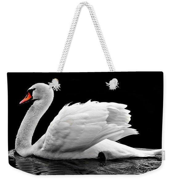 Elegant Swan Weekender Tote Bag