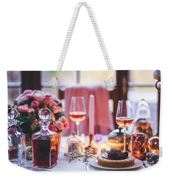Elegant Tablewear Weekender Tote Bag