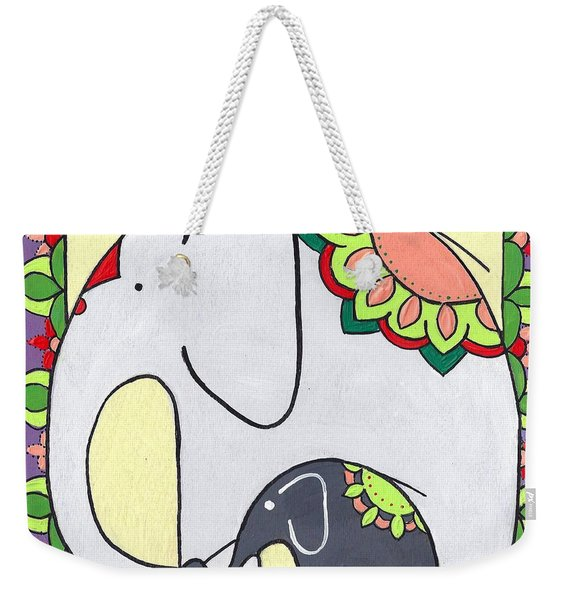 Elephant And Child 6 Weekender Tote Bag