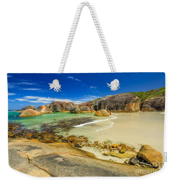 Weekender Tote Bag featuring the photograph Elephant Cove Beach by Benny Marty