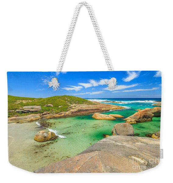 Weekender Tote Bag featuring the photograph Elephant Cove Beach Wa by Benny Marty