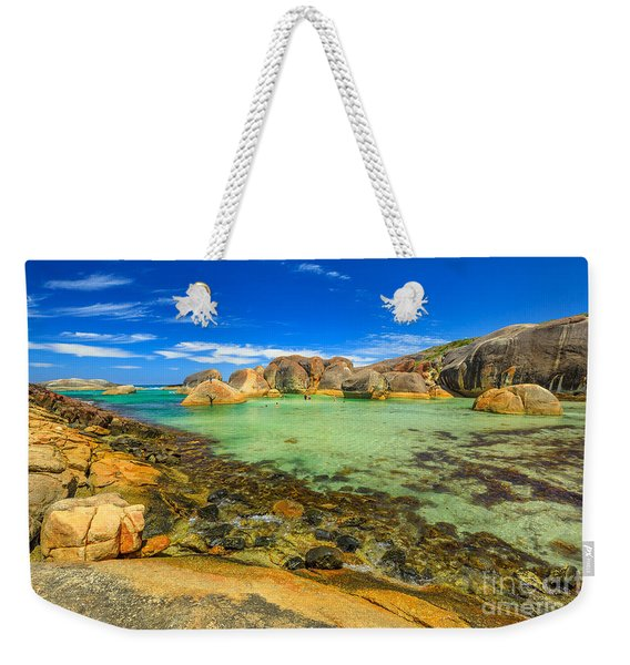 Weekender Tote Bag featuring the photograph Elephant Rocks In William Bay by Benny Marty