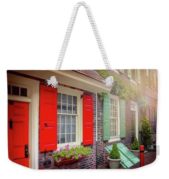 Elfreth's Alley Historic Philadelphia Weekender Tote Bag