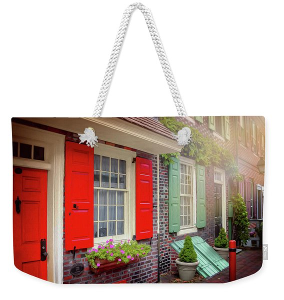 Elfreth's Alley Historic Philadelphia Weekender Tote Bag