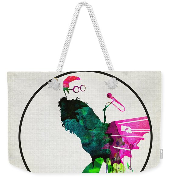 Elton Watercolor Poster Weekender Tote Bag