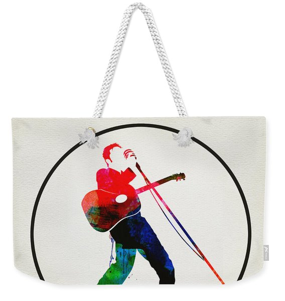 Elvis Presley Watercolor Weekender Tote Bag