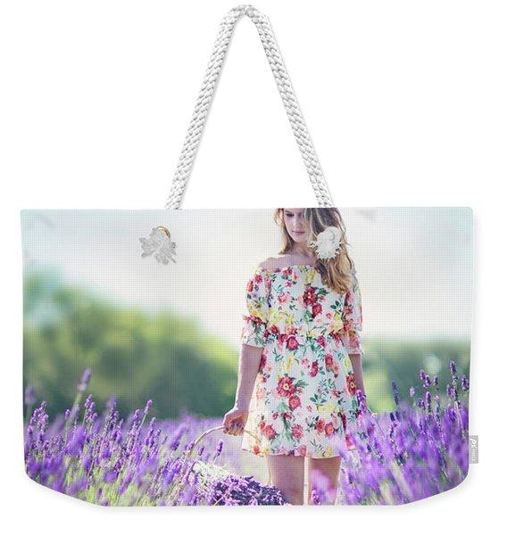 Embraced In Lavender Weekender Tote Bag