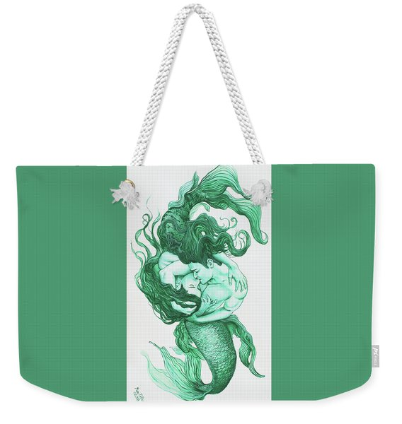 Embracing Mermen Weekender Tote Bag