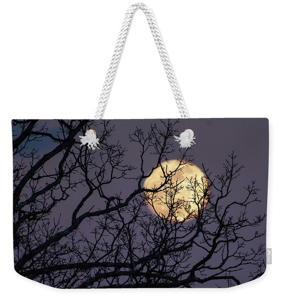 Embracing The Moon Weekender Tote Bag