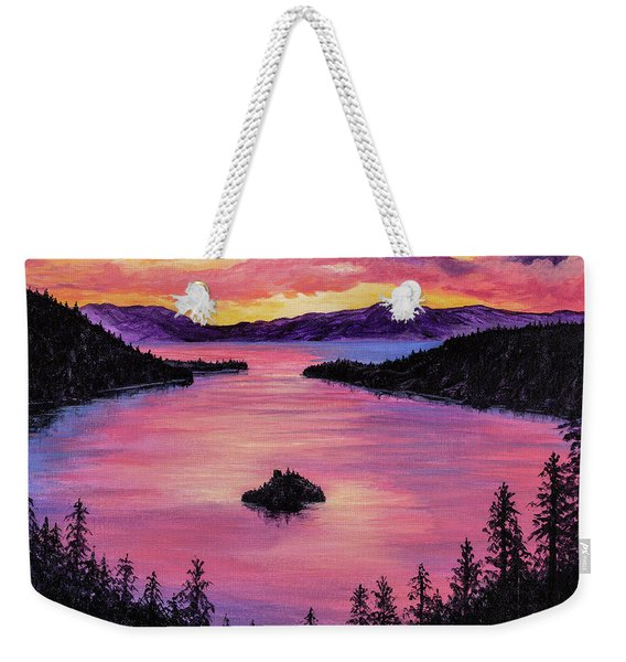 Emerald Bay Sunset Weekender Tote Bag