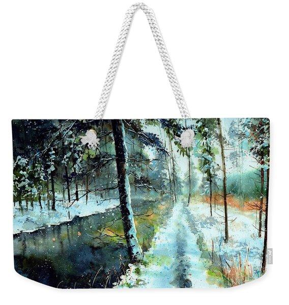 Emerald Winter Scene Weekender Tote Bag