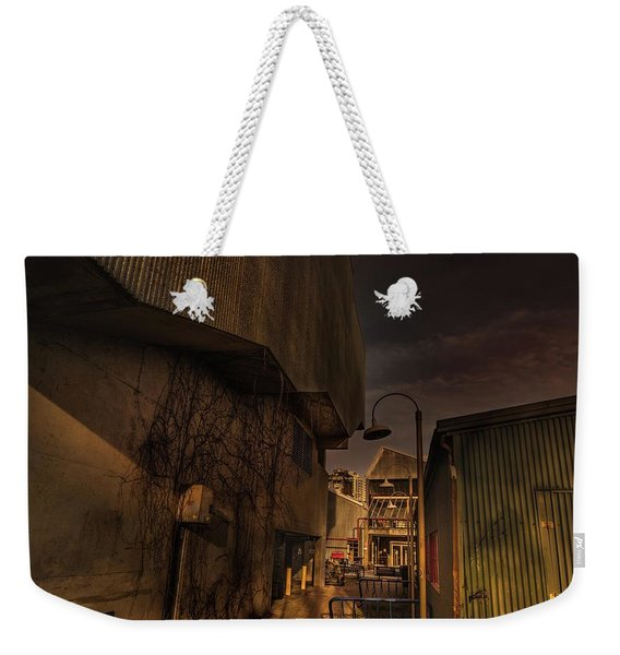 Weekender Tote Bag featuring the photograph Emily Carr Alley by Juan Contreras