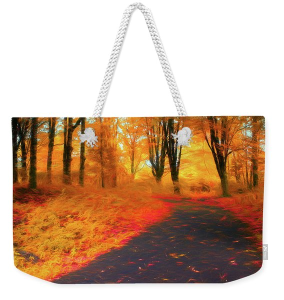 Emmaus Community Park Path - Colors Of Fall Weekender Tote Bag
