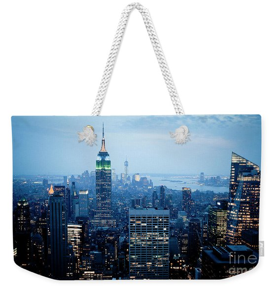 Empire In Blue Weekender Tote Bag